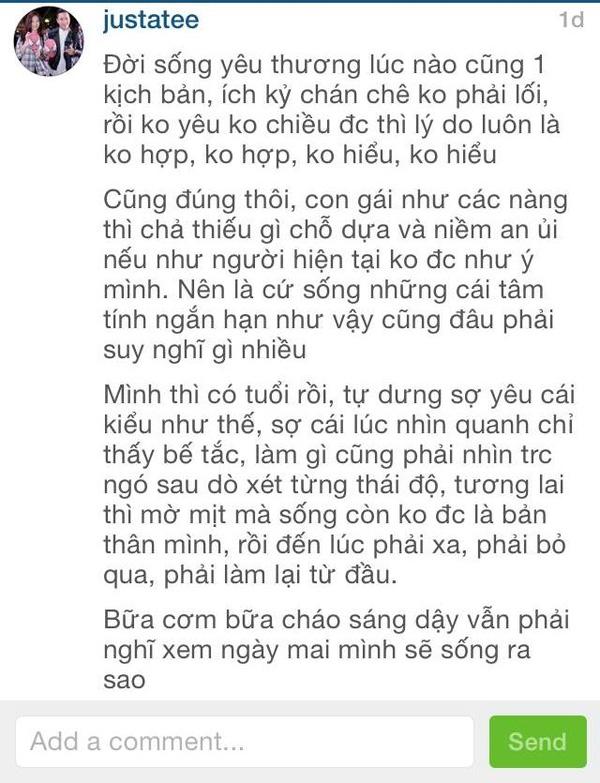 """Dòng chia sẻ củaJusta Teekhiến nhiều người """"hoang mang"""".(Ảnh: Internet)"""