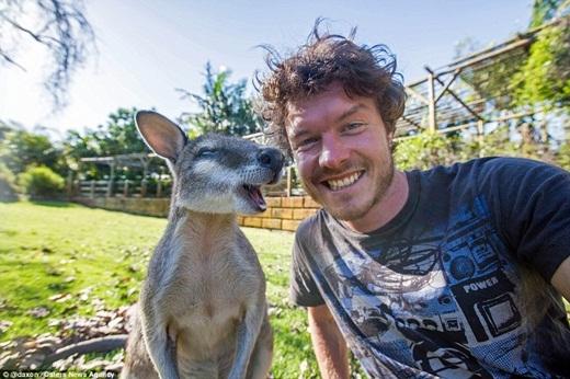 """Hiện giờ, anh chàng đang đi phượt ở phía tây nước Úc. Chia sẻ về sở thích của mình, Allan cho rằng, ở động vật có điều gì đó đặc biệt mà anh chàng """"không cắt nghĩa được"""".(Ảnh: Internet)"""
