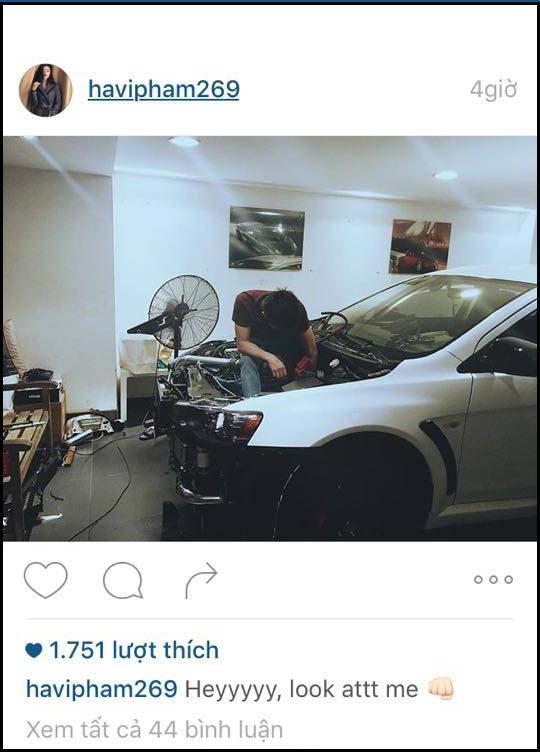Hạ Vi cũng đăng tải hình ảnh tương tự trên instagram với bình luận có vẻ khá bực tức. - Tin sao Viet - Tin tuc sao Viet - Scandal sao Viet - Tin tuc cua Sao - Tin cua Sao