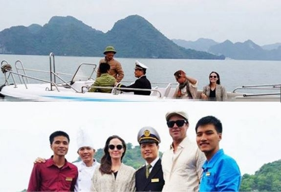 Theo những hình ảnh ghi nhận được, vợ chồng Jolie đi cùng một vệ sĩ mà không có 6 nhóc tỳ ở bên.