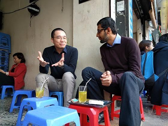 """Hình ảnh đẹp của CEO Google - Sundar Pichai khiến cư dân mạng """"phát sốt"""".(Ảnh: FB)"""