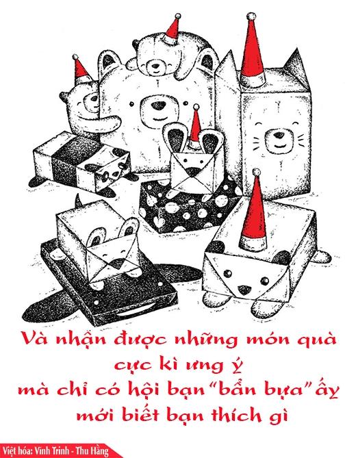Lời nhắn nhủ dễ thương về Giáng sinh và năm mới theo kiểu rất gấu