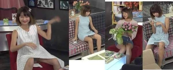Hình ảnh khác của cô nàng với dáng ngồi bị lộ nội y được đông đảo dân mạng chia sẻ.(Ảnh: Internet)