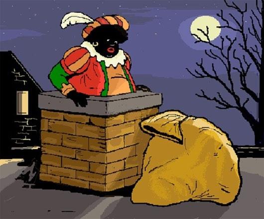 Zwarte Piet có gương mặt đen kịt (Ảnh: Internet)