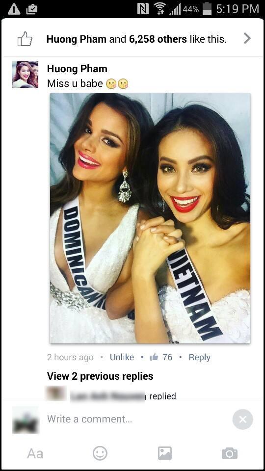 Phạm Hương và Clarissa thường xuyên theo dõi facebook và instagram của nhau. - Tin sao Viet - Tin tuc sao Viet - Scandal sao Viet - Tin tuc cua Sao - Tin cua Sao
