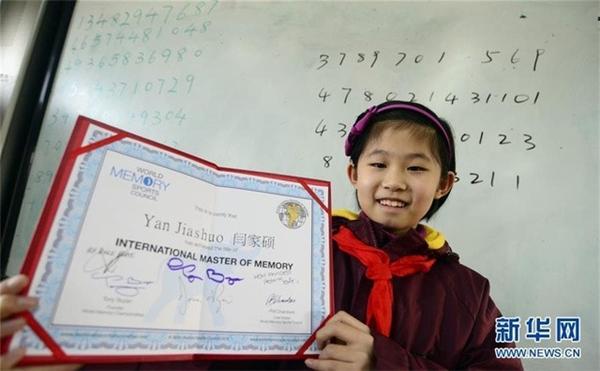 Yan Jiashou trở thành người có trí nhớ siêu phàm trẻ tuổi nhất thế giới.