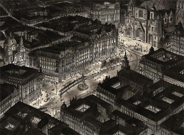 Vienna, Austria sống động qua khả năng của Stefan Bleekrode.