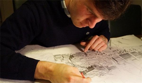 Stefan Bleekrode - chàng họa sĩ có khả năng độc đáo.
