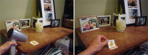 Gỡ sticker khỏi bàn, kệ, tường hay cửa mà không để lại vết giấy hay keo. (Ảnh: instructables)