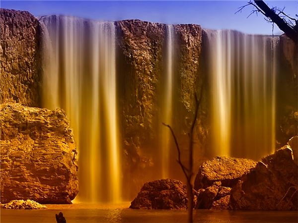 Vẻ đẹp như chốnbồng lai tiên cảnh của thác Bảo Đại. (Ảnh: Internet)