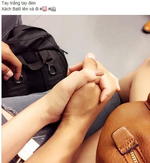Hình ảnhKỳ Hân - Hồng Quânnăm tay nhau chuẩn bị đi du lịch.(Ảnh: Internet)