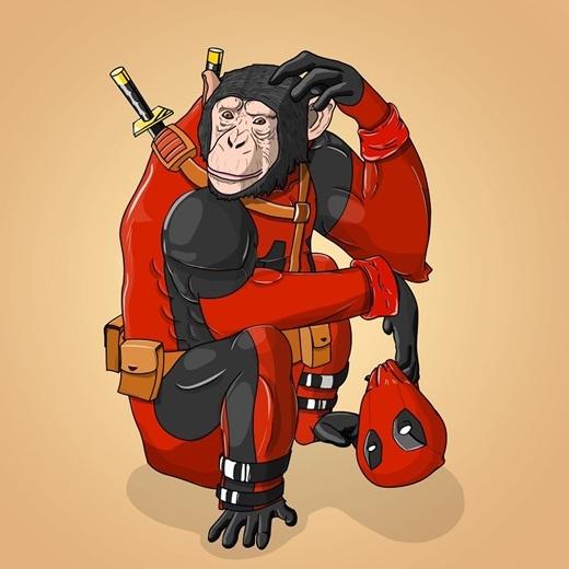 Có lẽ không loài động vật nào có thể phù hợp với tên đánh thuê lắm mồm Deadpool hơn là tinh tinh.