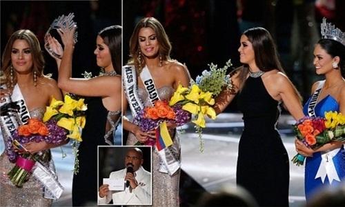 Khoảnh khắc đáng thương nhất trong lịch sử Miss Universe.