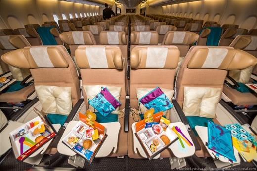 Bộ đồ chơi dành cho trẻ em trên chuyến bay. (Ảnh: Marina Lystseva)