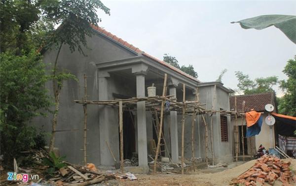 Căn nhà mới khang trang của bố mẹ Công Phượng (Ảnh: Zing.vn).