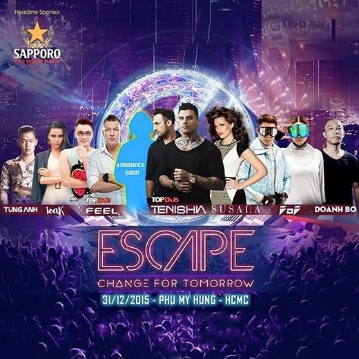 Chào đón lễ hội Escape - Change For Tomorrow lớn nhất trong năm