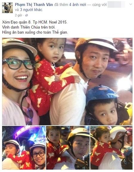 Vợ chồng Ốc Thành Vân - Trí Rùa nhân dịp lễ Giáng sinh đã đưa các thiên thần nhỏ tới thăm xóm Đạo, quận 8. Các Cola và Coca tỏ ra hào hứng khi được bố mẹ đưa đi chơi bằng xe gắn máy. - Tin sao Viet - Tin tuc sao Viet - Scandal sao Viet - Tin tuc cua Sao - Tin cua Sao