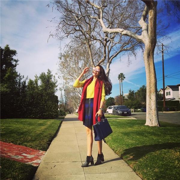 Sau khi Hoa hậu Hoàn vũ kết thúc, Phạm Hương không trở về Việt Nam ngay mà nán lại tại Mỹ vài ngày để khám phá vẻ đẹp hùng vĩ nơi đây. - Tin sao Viet - Tin tuc sao Viet - Scandal sao Viet - Tin tuc cua Sao - Tin cua Sao