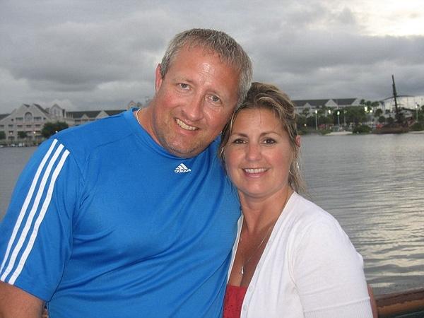David và người vợ mới Jayne Abraham.