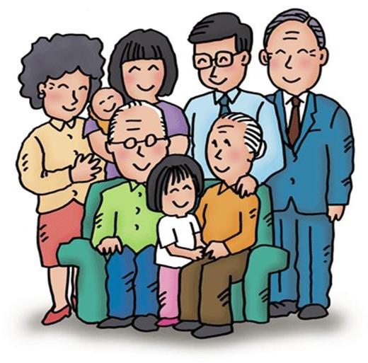 Khi con cái lập gia đình riêng và có cháu, cách gọi này lại được chuyển sao cho phù hợpvai vế, sự tôn kính với người lớn trong nhà. (Ảnh Internet)