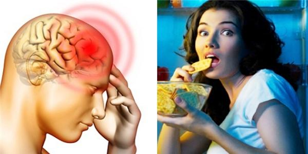Ăn đêm khiến bộ não suy giảm khả năng ghi nhận, tiếp thu tri thức mới. (Ảnh: Internet)