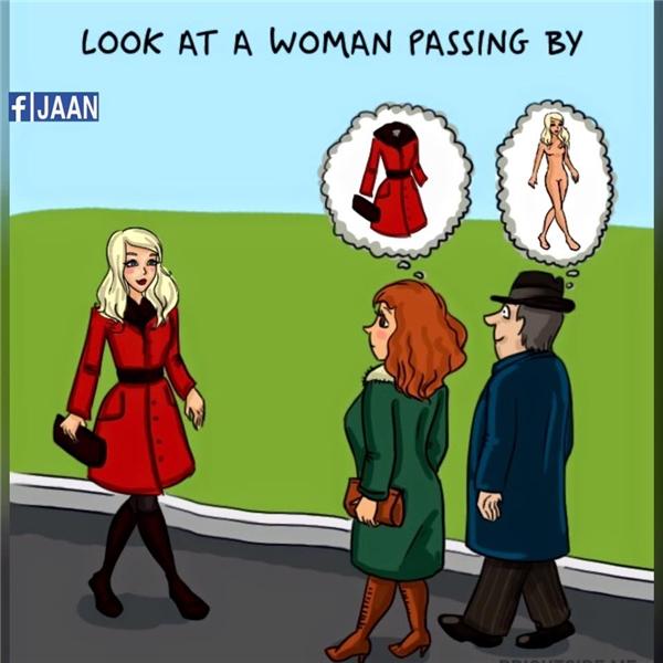 """Phụ nữ chú ý """"hình thức"""", đàn ông chú ý """"nội dung"""".(Ảnh: Internet)"""