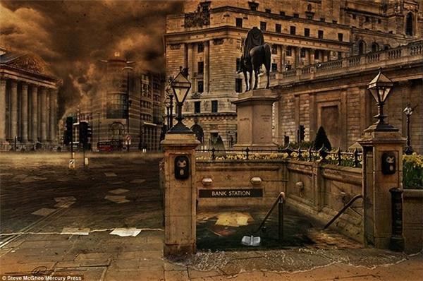 Hệ thống tàu điện ngầm ngập chìm trong làn nước ở London (Anh).