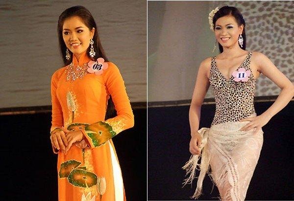 Người đẹp Võ Thị Lệ Thu (trái) và Lê Thị Kim Thi (phải) bị nhầm giải thưởng - Tin sao Viet - Tin tuc sao Viet - Scandal sao Viet - Tin tuc cua Sao - Tin cua Sao