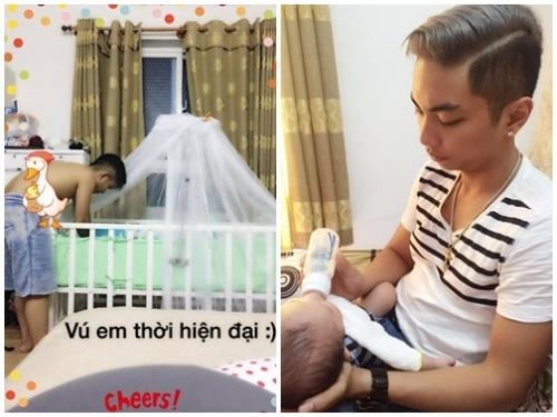 """Phan Hiển xứng đáng là """"ông bố bỉm sữa"""" của năm. - Tin sao Viet - Tin tuc sao Viet - Scandal sao Viet - Tin tuc cua Sao - Tin cua Sao"""