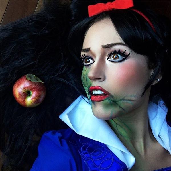 Khi nàng Bạch Tuyết ăn phải táo độc. (Ảnh: Internet)