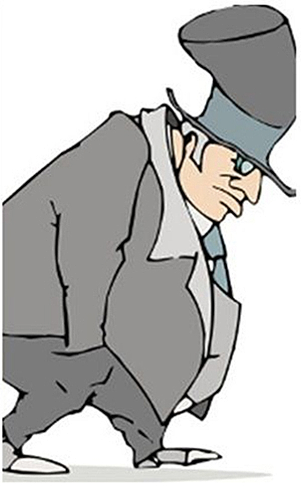 Bỏ tay và túi quần, lưng cúi thấp là biểu hiện của tâm lílo âu. (Ảnh: Internet)