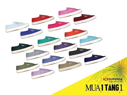 Năng động với độ bền bỉ cao cùng giày Superga đến từ Ý với đa sắc màu thời trang.