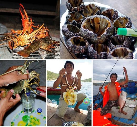 Tôm hùm, cầu gai, mực, bạch tuột... là những món hải sản nổi tiếng ở đây.(Ảnh: Internet)