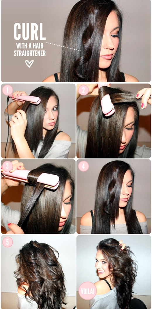 Bạn có thể phá cách một chút bằng cách dùng máy duỗi tạo ra những lọn tóc xoăn... (Ảnh: buzzfeed)