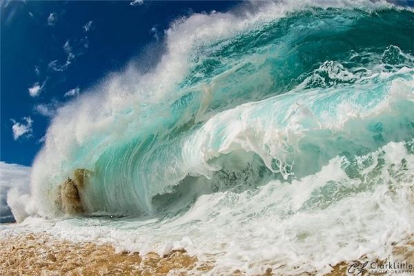 Clark tìm thấy tình yêu với sóng biển một cách tình cờ.