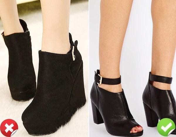 Chọn giày cho cô nàng chân thô