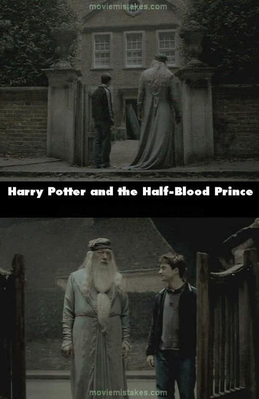 Là do Harry bỗng nhiên cao lên hay cụ Dumbledore tự dưngthấp xuống? (Ảnh: buzzfeed)