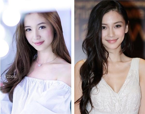 Jun Vũ được cư dân mạng so sánh với người đẹp Trung Quốc Angela Baby