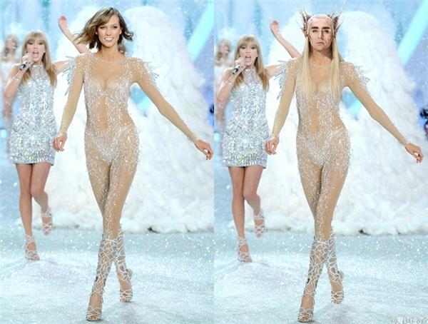"""Cô nàng Karlie Kloss, bạn thân của Taylor Swift có khi cũng phải chào thua trước nhan sắc """"hoa nhường nguyệt thẹn"""" của vị vua của thế giới loài tiên Thranduil (Lee Pace). (Ảnh: Internet)"""
