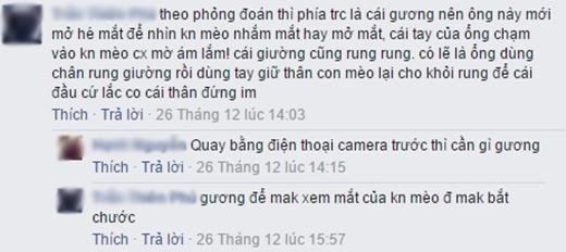 Bình luận của T.T.P. (Ảnh: chụp màn hình FBNV)