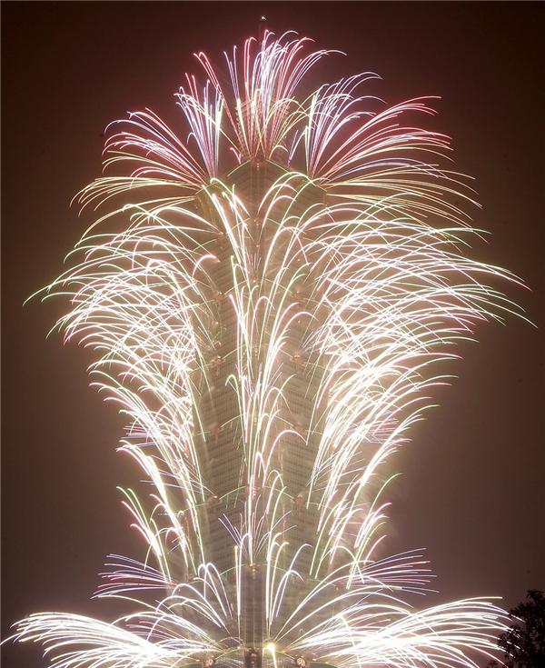 Màn pháo hoa rực rỡ tại Đài Bắc.(Ảnh: Internet)