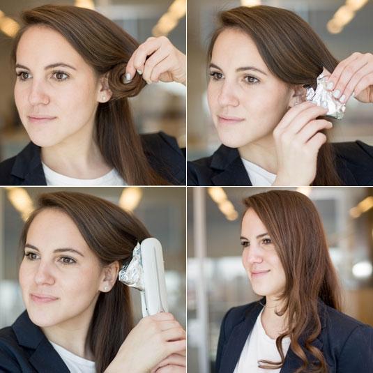 Máy kẹp cũng có thể giúp bạn sở hữu kiểu tóc xoăn nhẹ chỉ trong chớp mắt. (Ảnh: Internet)