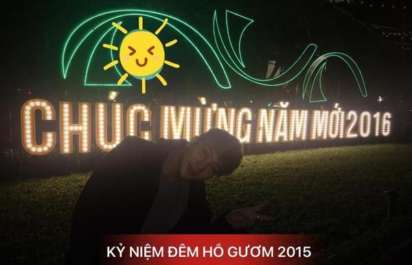 Bê Trần có vẻ trầm lắng hơn khi anh chỉ đăng một tấm ảnh đơn giản như thế này để chào đón năm mới.