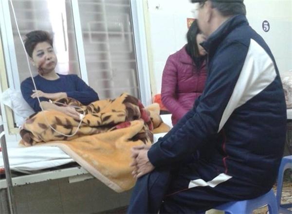 Đức Anh điều trị tại bệnh viện Việt Tiệp (Hải Phòng). Ảnh:L.T.