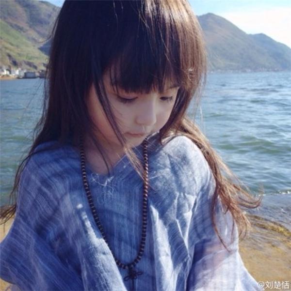 """Cận cảnh vẻ đẹp mơ màng như một """"thiên thần nhỏ"""" của Tiểu Tian Tian. (Ảnh: Internet)"""