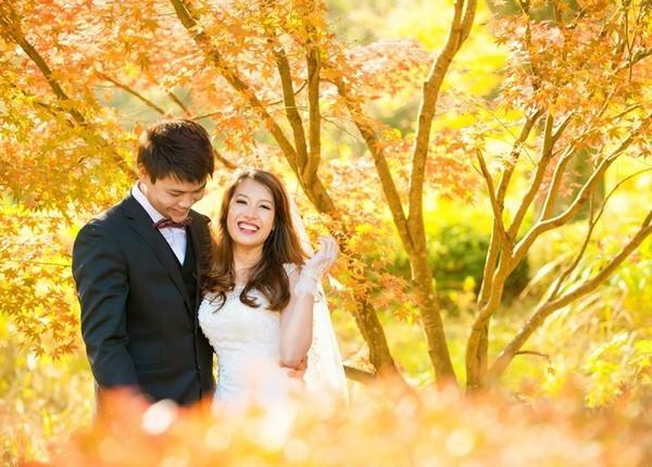 Bộ ảnh cưới của cặp đôi đẹp lãng mạn và lung linh như những thước phim tình cảm Hàn Quốc. (Ảnh: Internet)