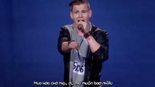 Rap về mẹ, thí sinh tài năng khiến GK suýt khóc