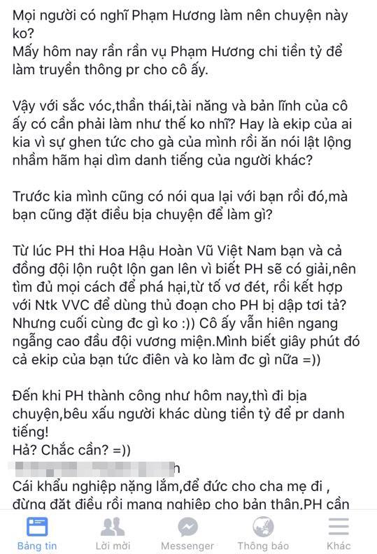 Post chia sẻ thông tin thiếu căn cứ của phía quản lí fanclub Phạm Hương. - Tin sao Viet - Tin tuc sao Viet - Scandal sao Viet - Tin tuc cua Sao - Tin cua Sao