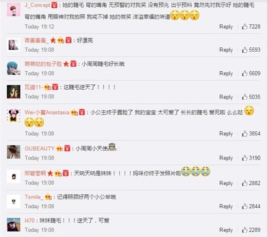 Bình luận của người dùng mạng xuýt xoa trước vẻ đẹp của tiểu công chúa Hathaway