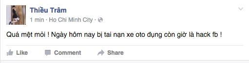 Các fan chưa kịp ăn mừng tin vui thì Thiều Bảo Trâm đăng tải một status mới thông báo rằng facebook mình bị hack. - Tin sao Viet - Tin tuc sao Viet - Scandal sao Viet - Tin tuc cua Sao - Tin cua Sao